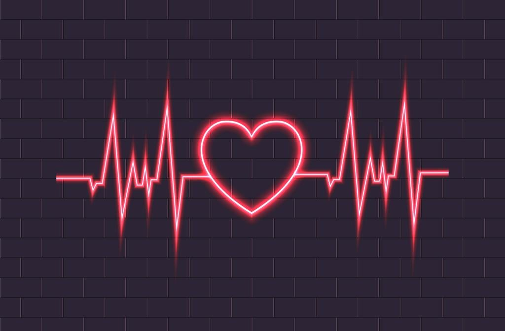 Batimento cardíaco com formato de coração