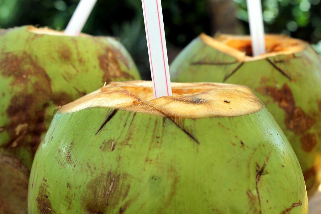 a água de coco é rica em potássio, o que ajuda a aumentar a excreção de sódio